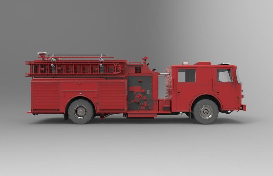fire truck royalty-free 3d model - Preview no. 2
