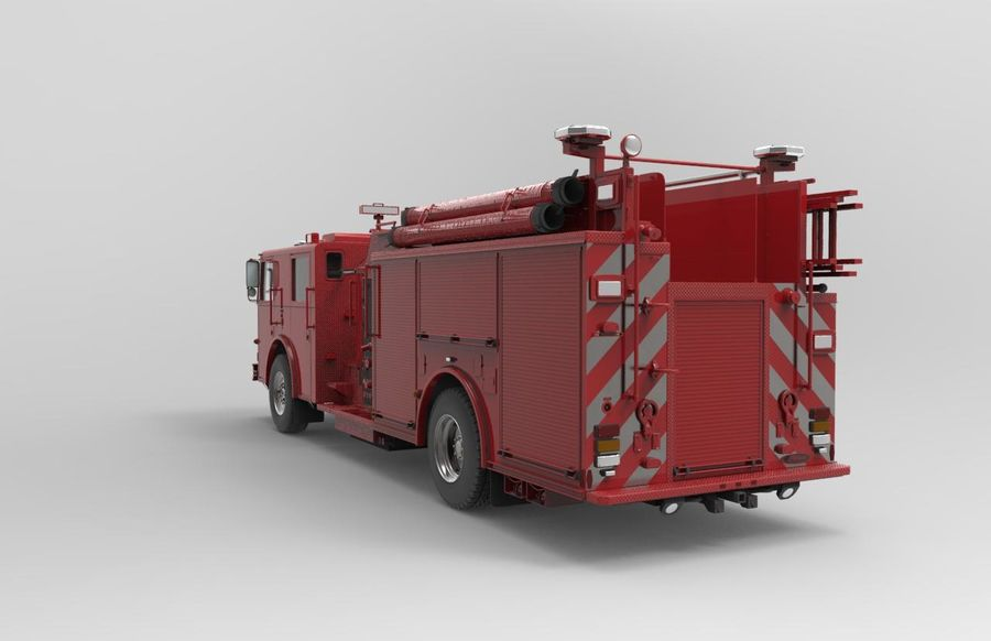 fire truck royalty-free 3d model - Preview no. 3