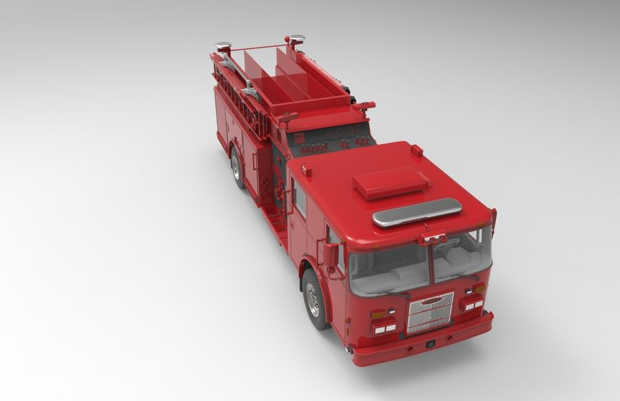 fire truck royalty-free 3d model - Preview no. 4