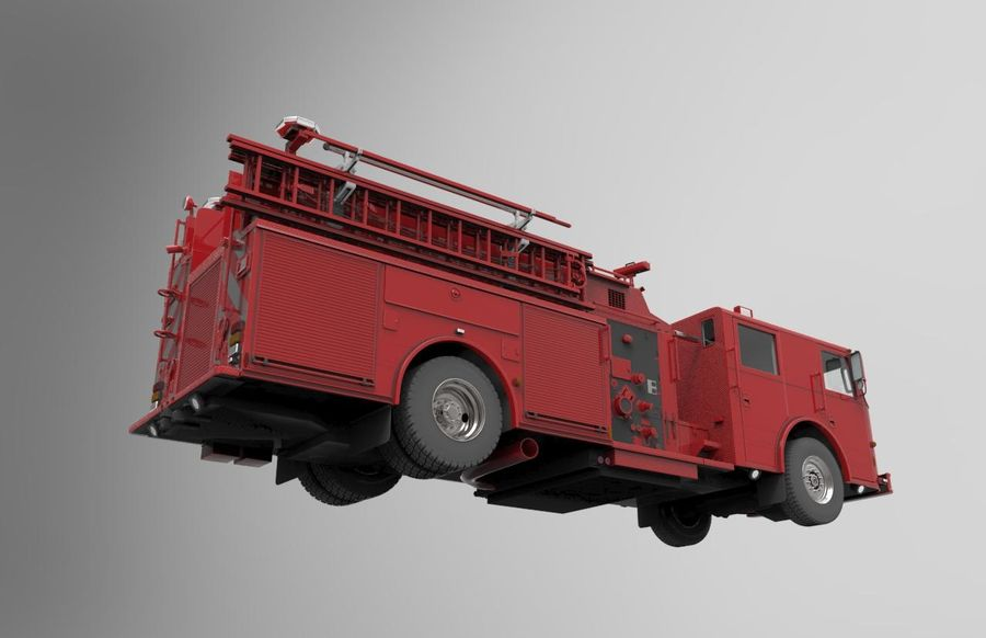fire truck royalty-free 3d model - Preview no. 5