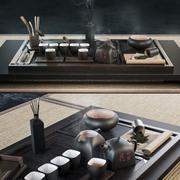 chinese set 3d model