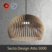 Lámpara colgante Atto 5000 (finlandesa) escandinava de la lámpara de interior Secto Design (render de Vray y Corona) modelo 3d