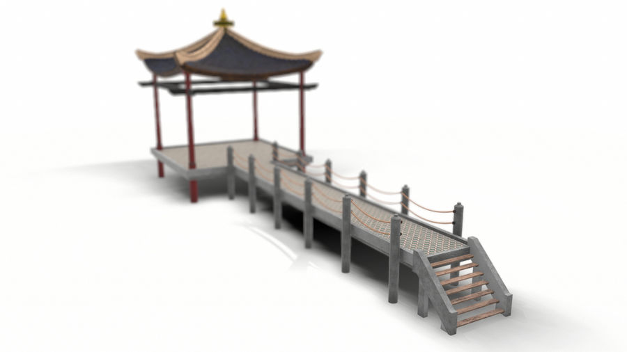 Chinese pavilion royalty-free 3d model - Preview no. 9