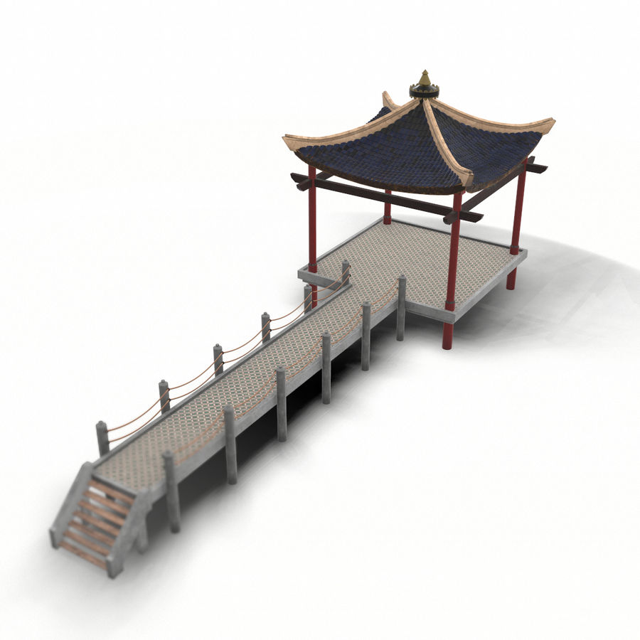Chinese pavilion royalty-free 3d model - Preview no. 2
