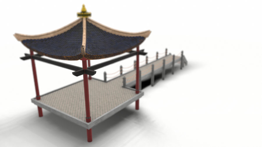 Chinese pavilion royalty-free 3d model - Preview no. 8