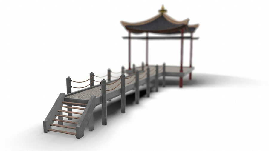 Chinese pavilion royalty-free 3d model - Preview no. 3