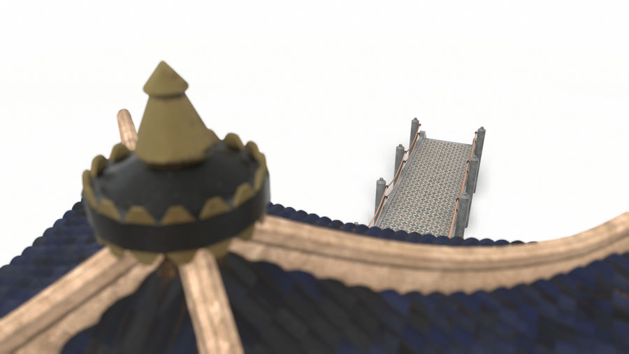 Chinese pavilion royalty-free 3d model - Preview no. 15