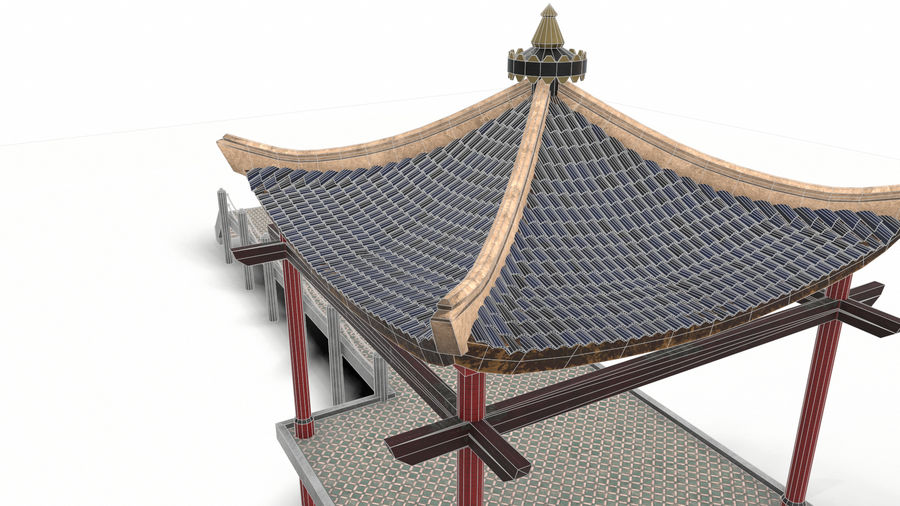 Chinese pavilion royalty-free 3d model - Preview no. 19
