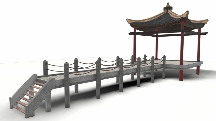 Chinese pavilion royalty-free 3d model - Preview no. 21
