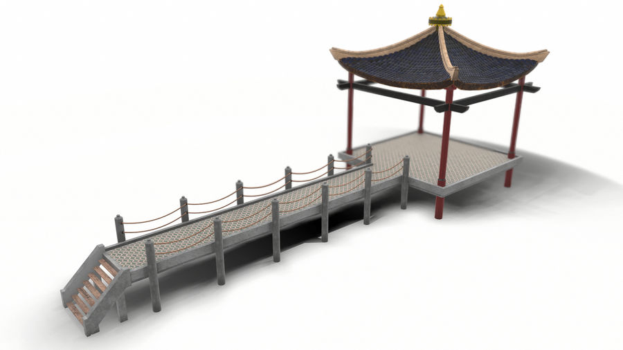 Chinese pavilion royalty-free 3d model - Preview no. 4