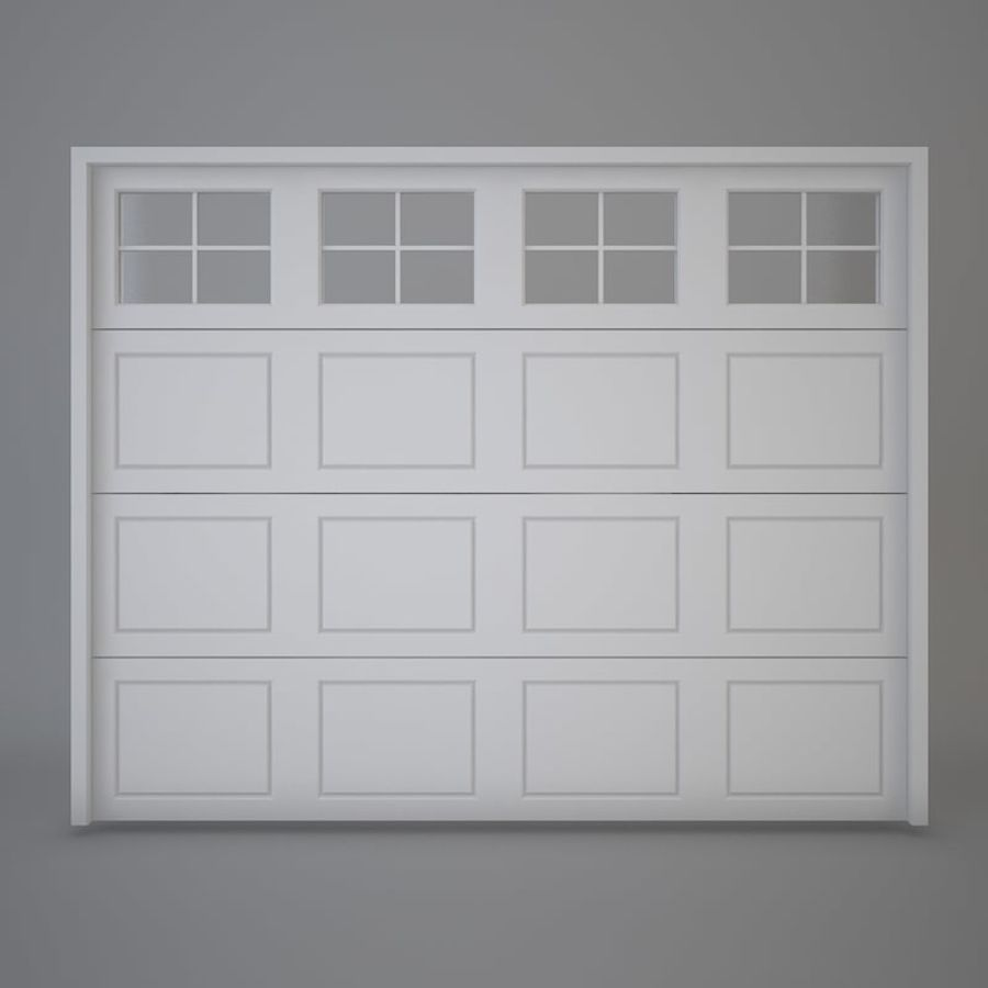 Garage Door 03 Royalty Free 3d Model   Preview No. 2
