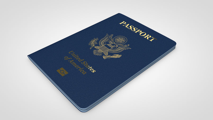 Passport royalty-free 3d model - Preview no. 7