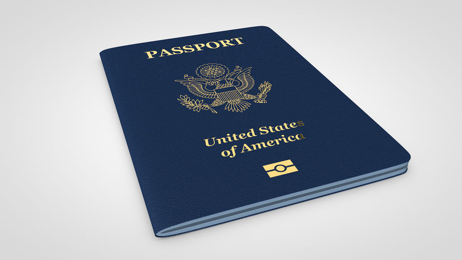 Passport royalty-free 3d model - Preview no. 2