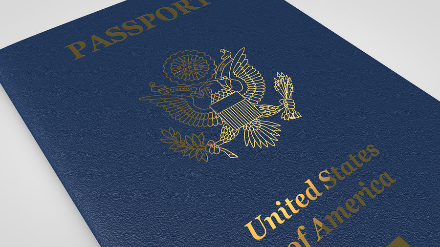 Passport royalty-free 3d model - Preview no. 6