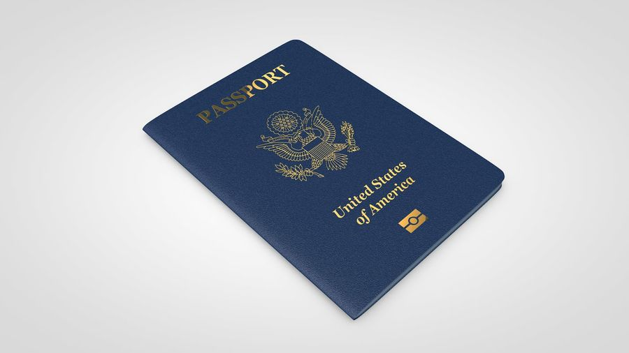 Passport royalty-free 3d model - Preview no. 3