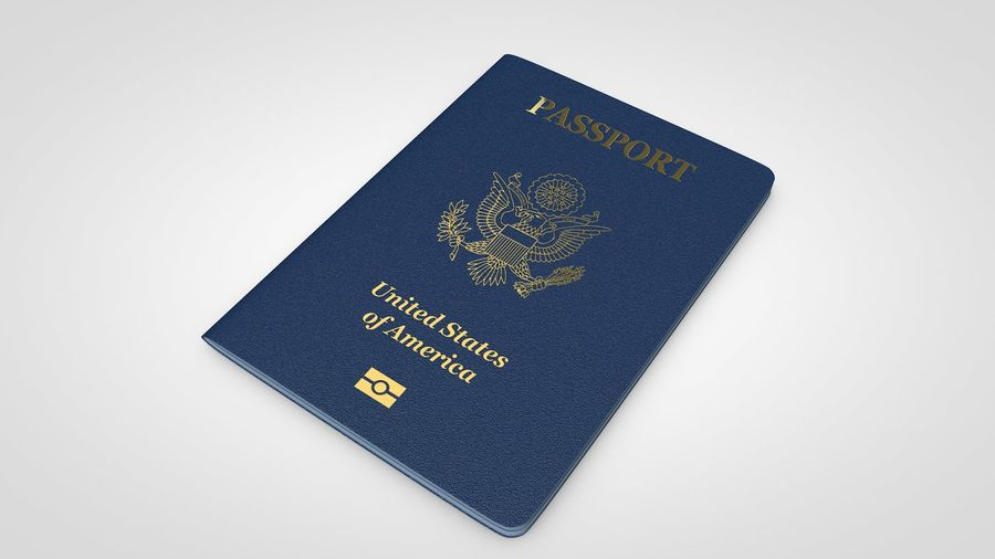 Passport royalty-free 3d model - Preview no. 1