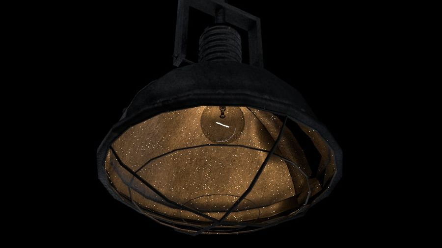 Industrial Lamp No. 3 royalty-free 3d model - Preview no. 1