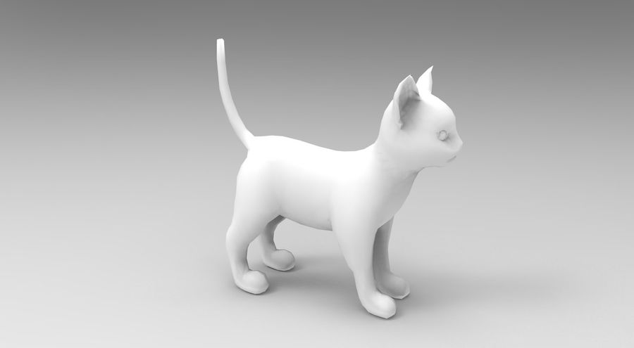 cute cat rigged royalty-free 3d model - Preview no. 29