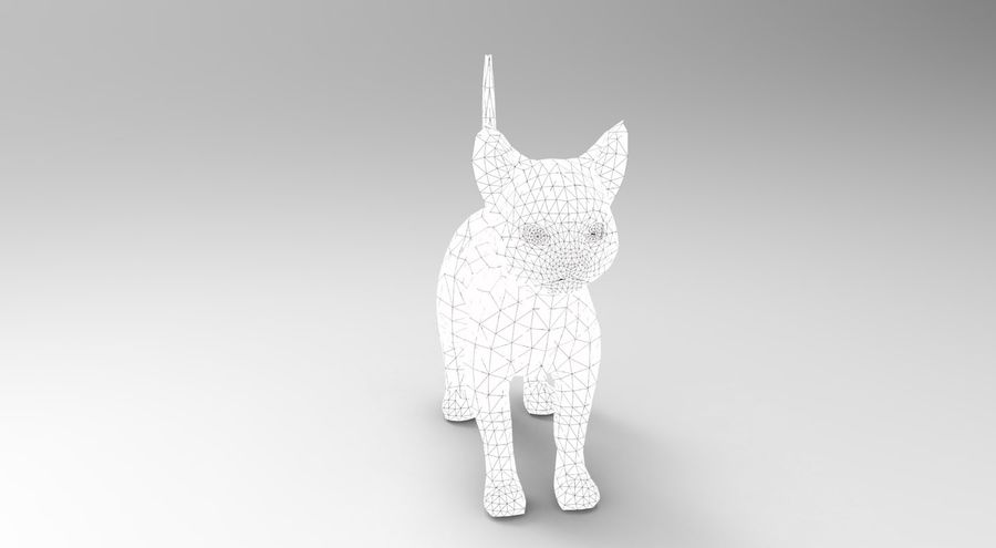 cute cat rigged royalty-free 3d model - Preview no. 41