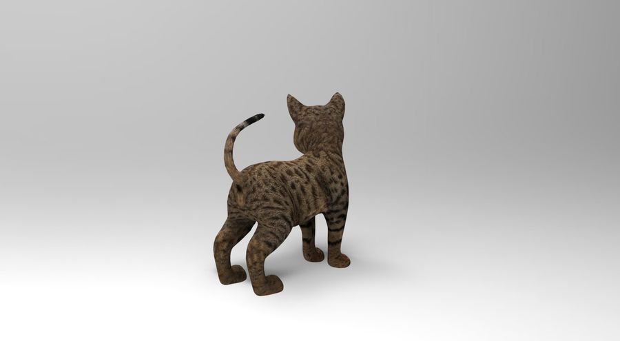 cute cat rigged royalty-free 3d model - Preview no. 12
