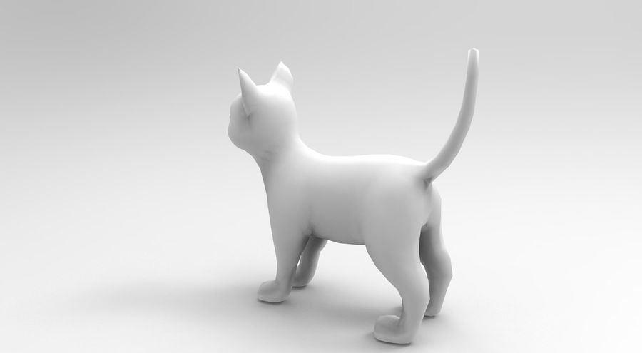 cute cat rigged royalty-free 3d model - Preview no. 32