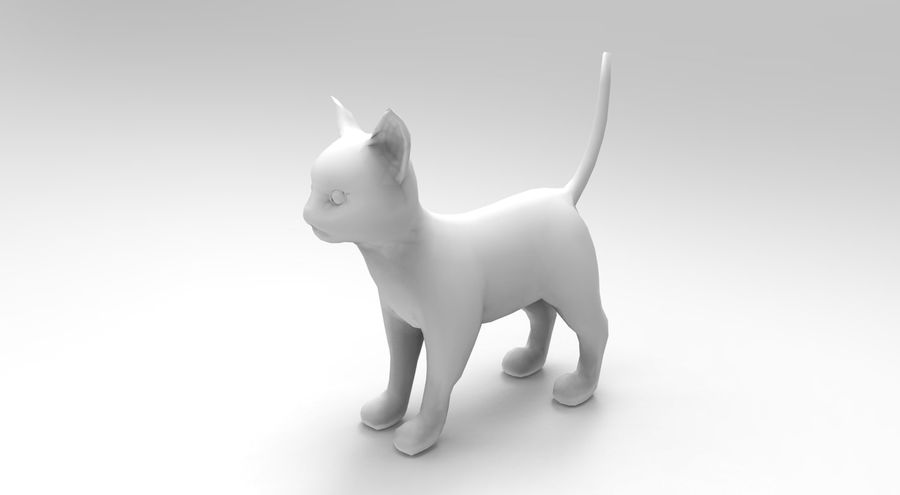 cute cat rigged royalty-free 3d model - Preview no. 31