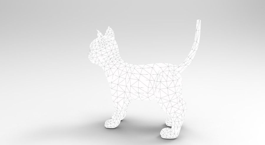 cute cat rigged royalty-free 3d model - Preview no. 38