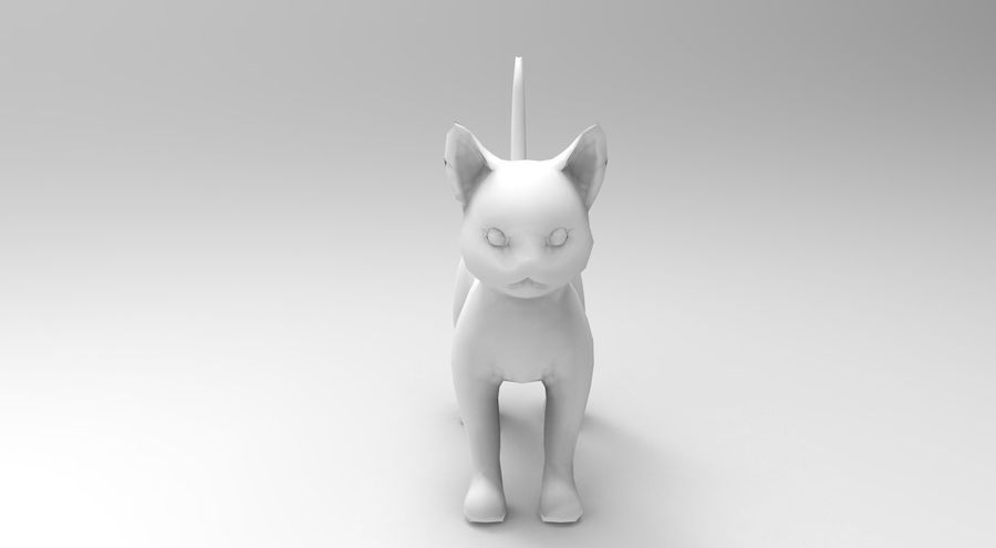 cute cat rigged royalty-free 3d model - Preview no. 30