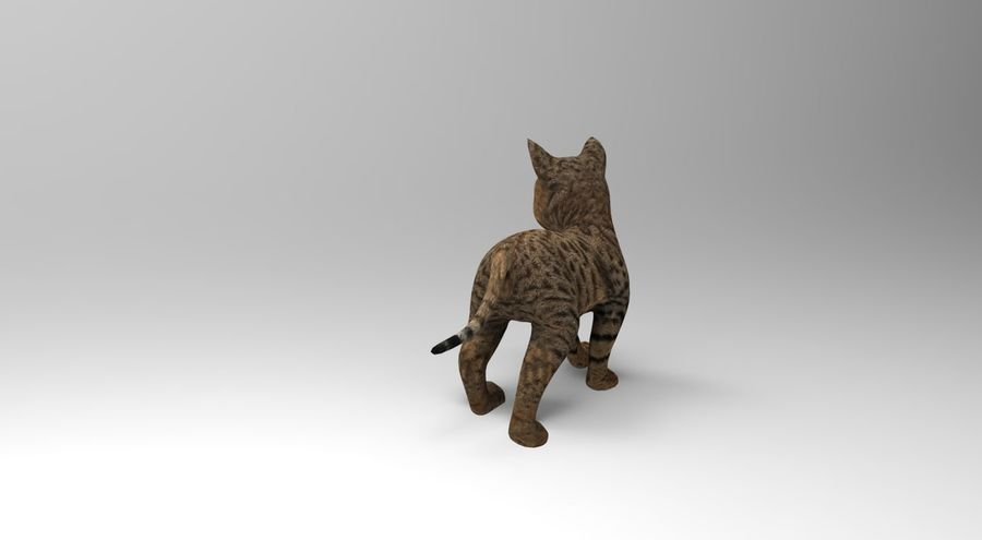 cute cat rigged royalty-free 3d model - Preview no. 4