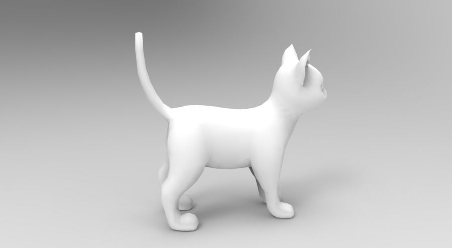 cute cat rigged royalty-free 3d model - Preview no. 34