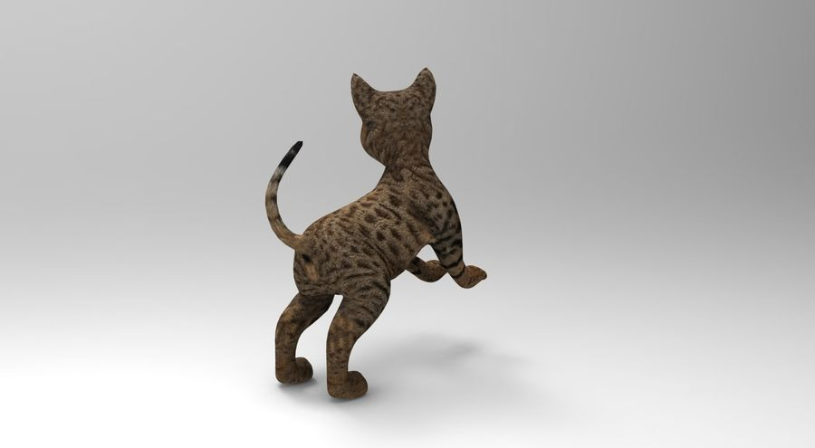 cute cat rigged royalty-free 3d model - Preview no. 24
