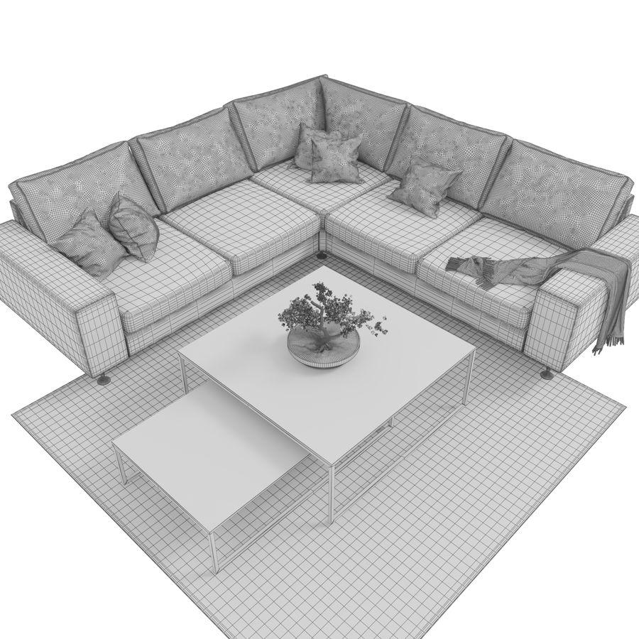 Soffa Boconcept Indivi royalty-free 3d model - Preview no. 7