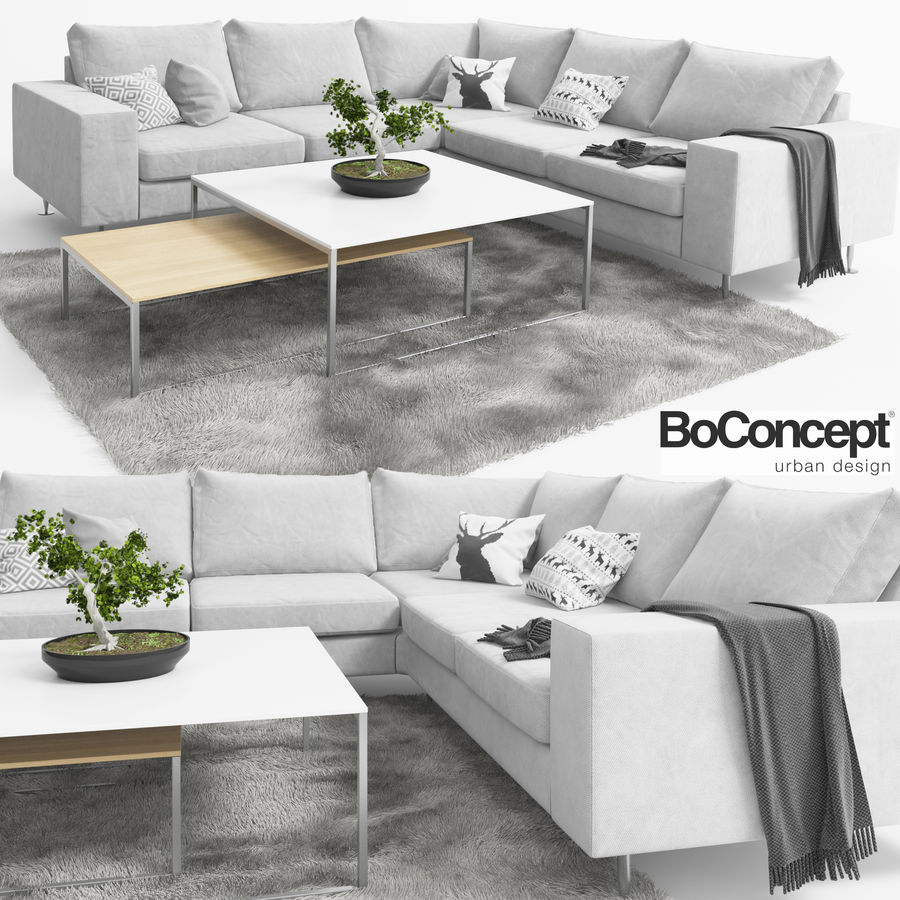 Soffa Boconcept Indivi royalty-free 3d model - Preview no. 1