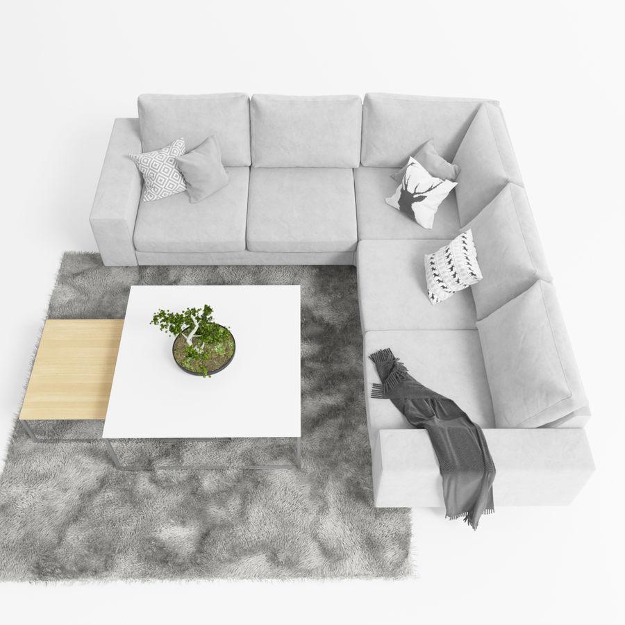 Soffa Boconcept Indivi royalty-free 3d model - Preview no. 2