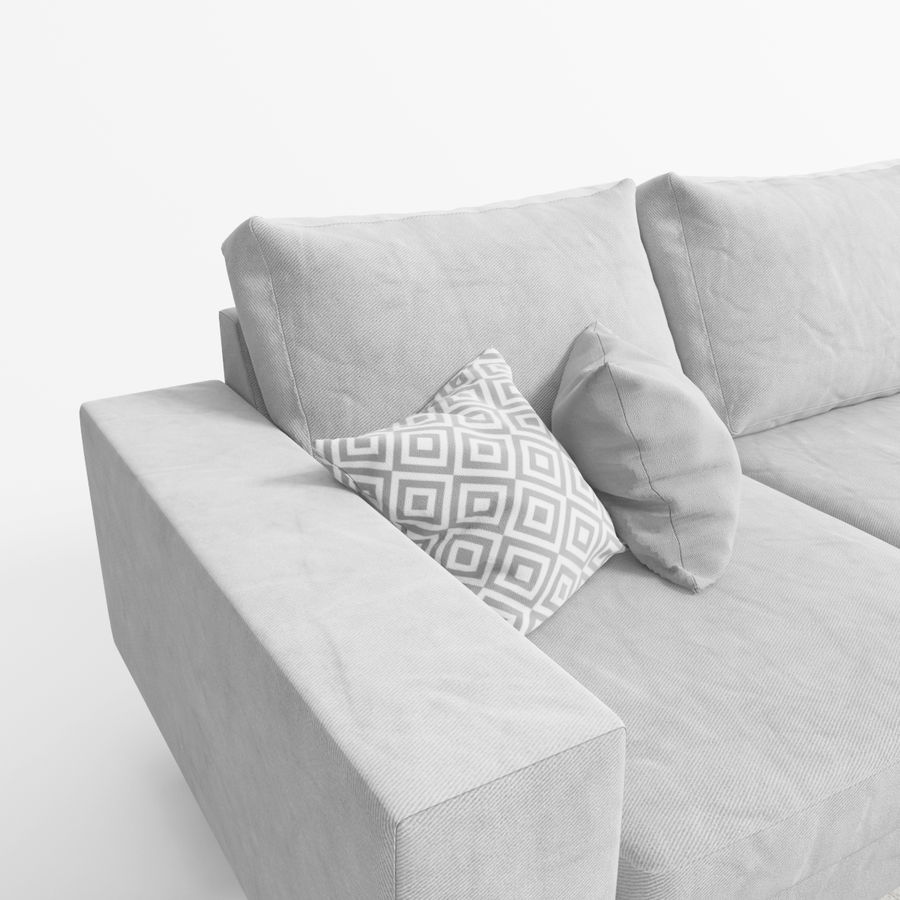 Soffa Boconcept Indivi royalty-free 3d model - Preview no. 6