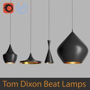 High Poly 3d models of Tom Dixon Beat Black Lamps (Vray and Corona) 3d model