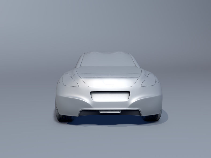 Peugeot RCZ royalty-free 3d model - Preview no. 4