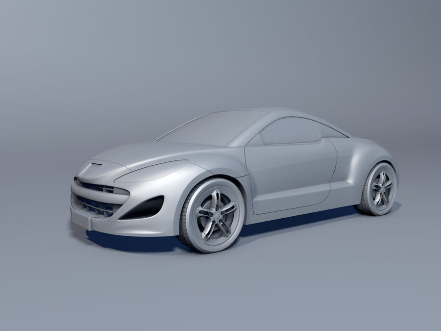 Peugeot RCZ royalty-free 3d model - Preview no. 1