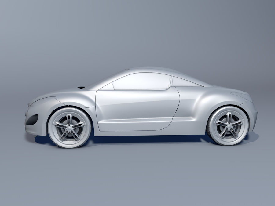 Peugeot RCZ royalty-free 3d model - Preview no. 2