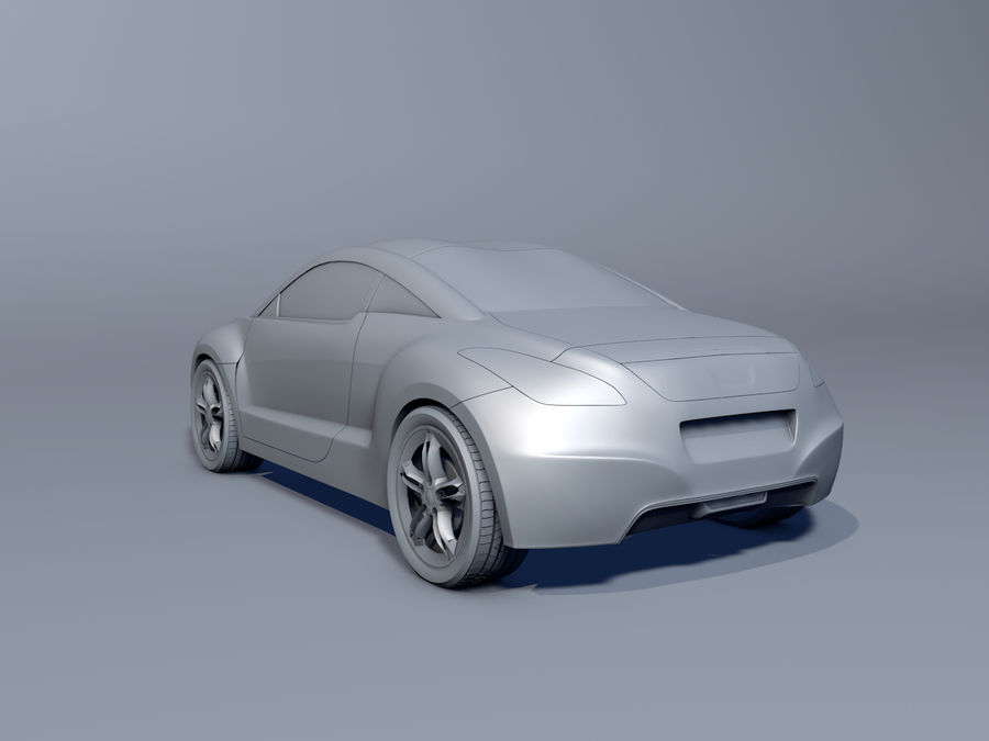 Peugeot RCZ royalty-free 3d model - Preview no. 3