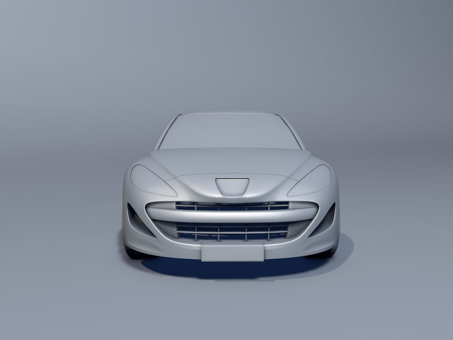 Peugeot RCZ royalty-free 3d model - Preview no. 5