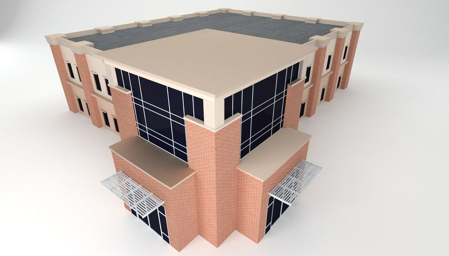 Mid Sized Two Story Professional Building 3d Model 17