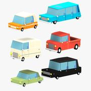 Cartoon Cars pack 2 3d model