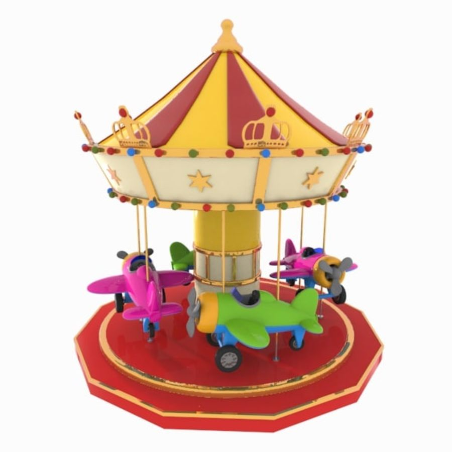 Toon Carousel 3D Model $15 -  unknown  max  obj  3ds - Free3D