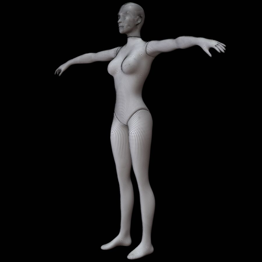 Mannequin female royalty-free 3d model - Preview no. 20
