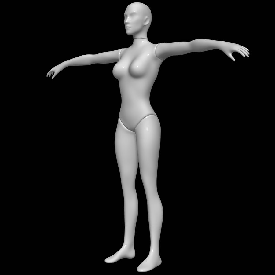 Mannequin female royalty-free 3d model - Preview no. 8