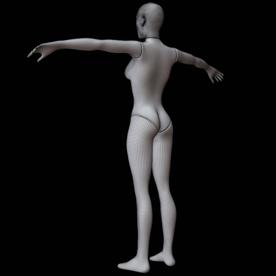 Mannequin female royalty-free 3d model - Preview no. 18