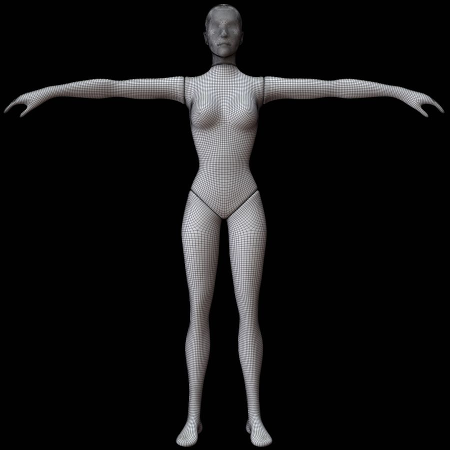 Mannequin female royalty-free 3d model - Preview no. 13