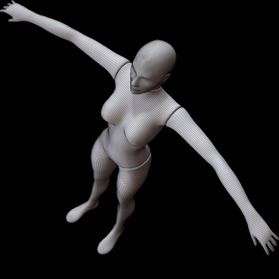 Mannequin female royalty-free 3d model - Preview no. 23