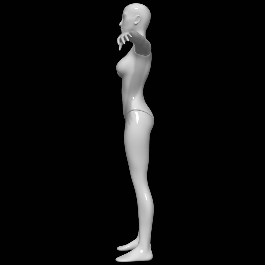 Mannequin female royalty-free 3d model - Preview no. 7